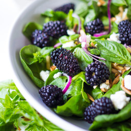 Blackberry Basil Salad