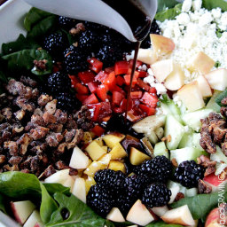 Blackberry Honey Walnut Salad