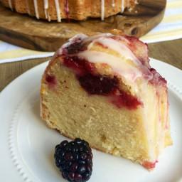 Blackberry Lemon Bundt Cake