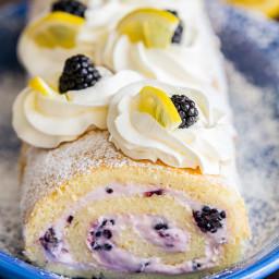Blackberry Lemon Cake Roll (VIDEO)