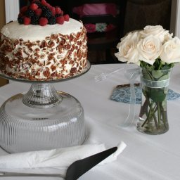 Blackberry-raspberry Truffle Cake with Whipped Cream Topping