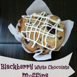 Blackberry White Chocolate Muffin Recipe