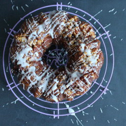 Blackcurrant Caramel Walnut Monkey Bread