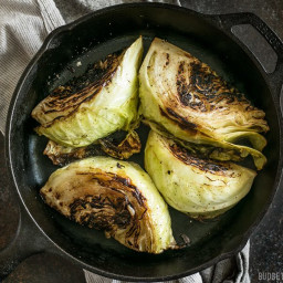 Blackened Cabbage with Chipotle Mayo