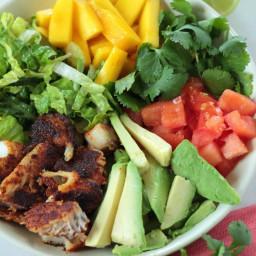 Blackened Fish Taco Salad Bowl