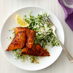 Blackened Fish with Green Rice