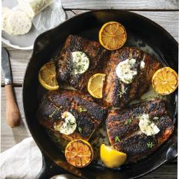 Blackened Fish with Thyme Butter