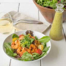 Blackened grilled shrimp salad