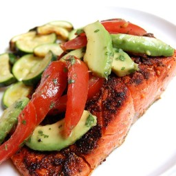 Blackened Salmon with Summer Tomato Salsa