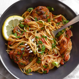 Blackened Shrimp Pasta