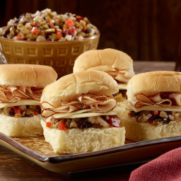 Blackened Turkey Muffaletta Sliders Recipe