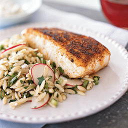 Blackened Halibut with Remoulade