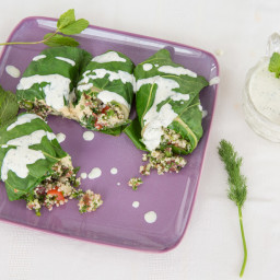 Blanched Chard Dolmas