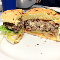 Bleu Cheese Stuffed Hamburgers