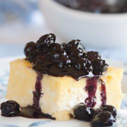 Blintz Souffle With Blueberry Sauce