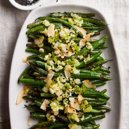 Blistered Green Beans with Coconut, Sesame and Scallion Oil