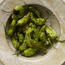 Blistered Shishito Peppers with Sea Salt