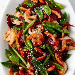 Blood Orange-Shrimp Stir-Fry