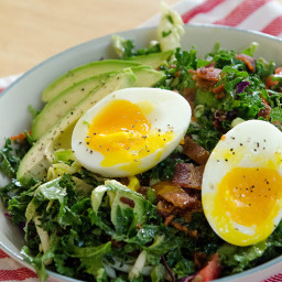 BLT Breakfast Salad With Soft Boiled Eggs & Avocado