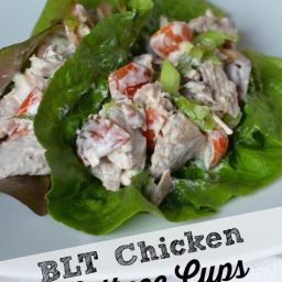 BLT Chicken Lettuce Cups