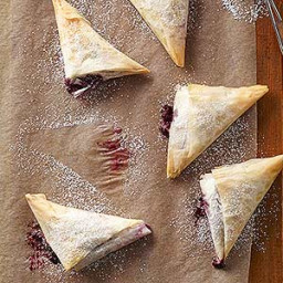 Blue Raspberry Phyllo Wedges