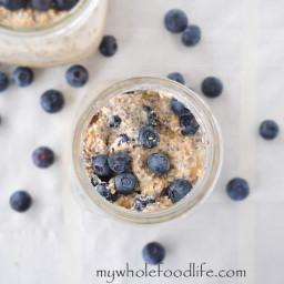 Blueberries and Cream Overnight Oats