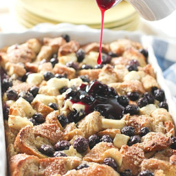 Blueberry and Cream Cheese French Toast Casserole