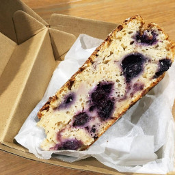 Blueberry and Oat Breaky Cake