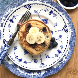 Blueberry Banana Cornmeal Pancakes