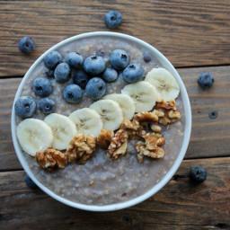 Blueberry-banana Walnut Steel Cut Oats Meal