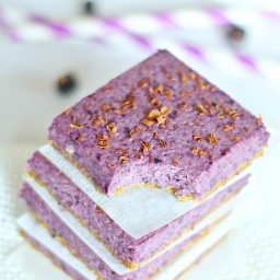 Blueberry Bars (Raw Vegan Gluten Free)