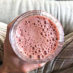 Blueberry-Basil ACV Lemonade