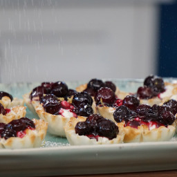 Blueberry Cheesecake Filo Cups