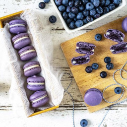 Blueberry Cheesecake Macarons