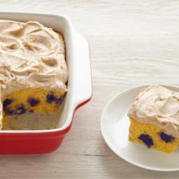 Blueberry Cornbread with Maple Buttercream