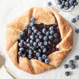 Blueberry Cornmeal Galette