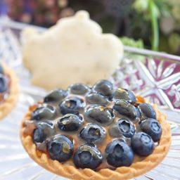 Blueberry Cream Tartlets with Maple Glaze