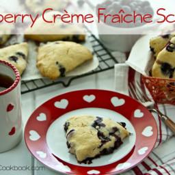 Blueberry Crème Fraîche Scones