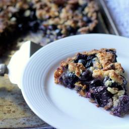 Blueberry Crisp Tart with Oat Crust (Gluten Free, Vegan)