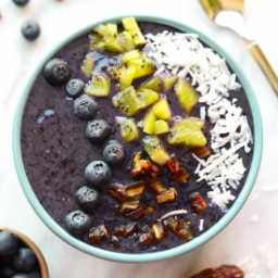 Blueberry Date Smoothie Bowls