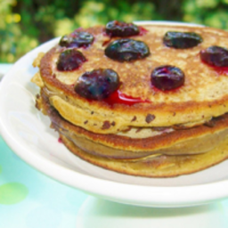 Blueberry Flourless Pancakes
