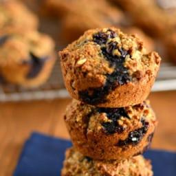 Blueberry Hemp Flaxseed Muffins