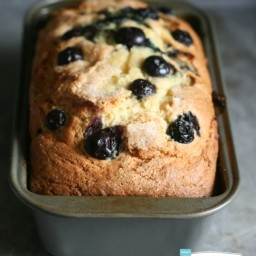 Blueberry Lemon Bread with Lemon Glaze Recipe