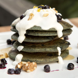 Blueberry Lemon Buckwheat Pancakes