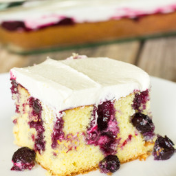 Blueberry Lemon Poke Cake Recipe
