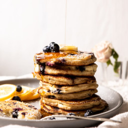 Blueberry Lemon Ricotta Pancakes.
