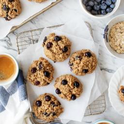 Blueberry Lemon Zest Breakfast Cookies