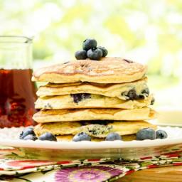 Blueberry Masa Harina Pancakes