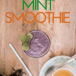 Blueberry Mint Smoothie Recipe [AIP, Paleo, Dairy-Free]