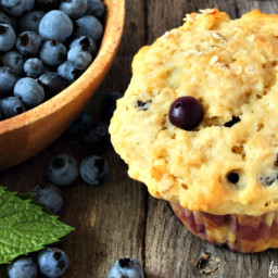 Blueberry Oatmeal Lactation Muffins
